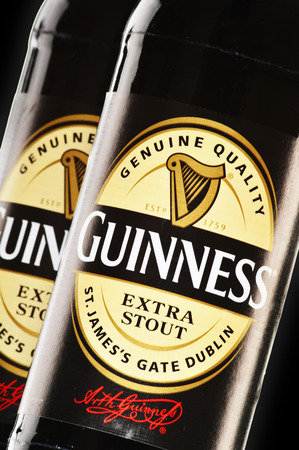 guinness beer: Irish dry stout, originated in the brewery of Arthur Guinness, Dublin  One of the most successful beer brands in the world, available in over 100 countries   Editorial