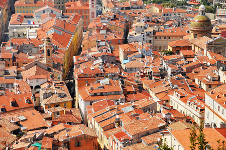 Old town architecture of Nice on French Riviera photo