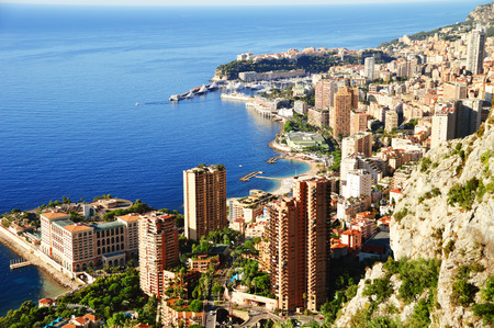 View of the city of Monaco. French Riviera photo