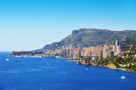 riviera: View of the city of Monaco. French Riviera