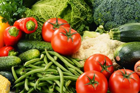 alimentacion balanceada: Variedad de verduras orgánicas frescas. Dieta de desintoxicación