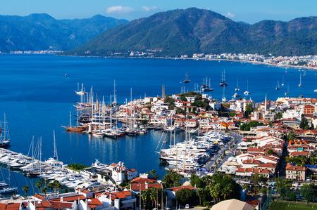 View of Marmaris harbor on Turkish Riviera. photo