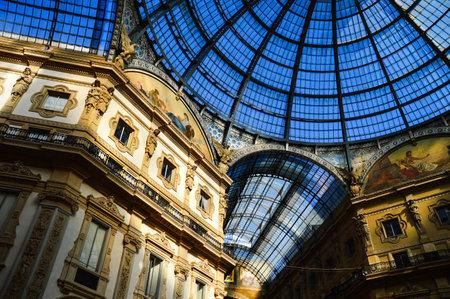 vittorio emanuele: Galleria Vittorio Emanuele II in central of Milan, Italy