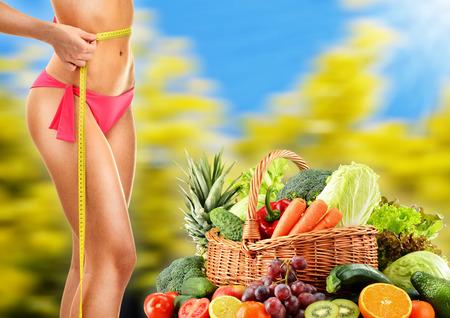 Dieting. Balanced diet based on raw organic vegetables. photo