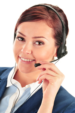 help desk: Call center operator. Customer support. Help desk. Stock Photo