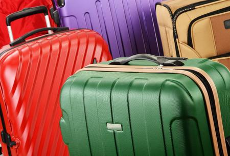 maleta: Composici�n con maletas Foto de archivo