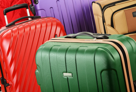 suitcase packing: Composition with suitcases