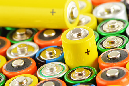 alkaline: Composition with alkaline batteries.  Chemical waste