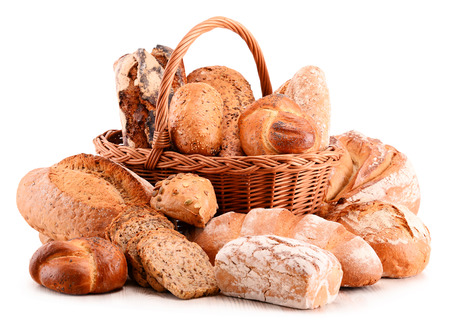 sorts: Different sorts of bread isolated on white Stock Photo