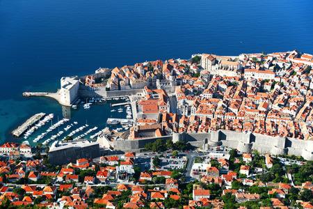 croatia dubrovnik: Aerial view of Dubrovnik, Croatia. Stock Photo
