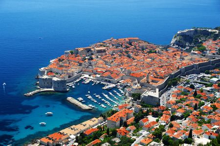 croatia: Aerial view of Dubrovnik, Croatia. Stock Photo