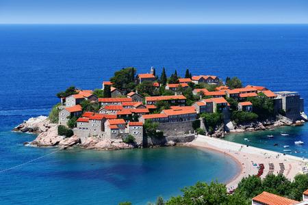 sveti: Sveti Stefan island near city of Budva, Montenegro on Adriatic coast.