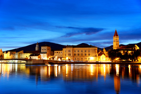 dalmatia: Old town of Trogir in Dalmatia, Croatia by night.