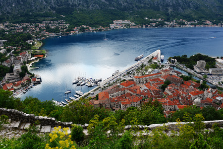kotor: View of the old town of Kotor, Montenegro. Stock Photo