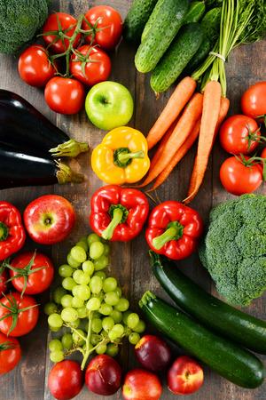 有機野菜と果物の様々 な組成物。