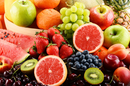 assorted: Composition with assorted fruits.