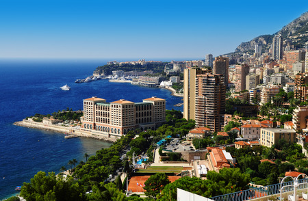 cote d'azure: View of the city of Monaco. French Riviera