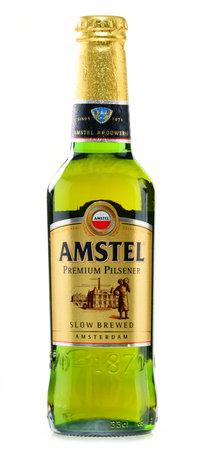 internationally: Amstel Premium Pilsener is an Internationally known brand of beer produced by Heineken International in Zoeterwoude, Netherlands