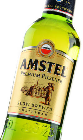 internationally: Amstel Premium Pilsener is an Internationally known brand of beer produced by Heineken International in Zoeterwoude, Netherlands