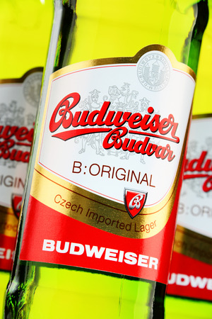 budejovice: Budweiser Budvar one of the Highest-selling beers in the Czech Rep. exported into more than 60 countries, produced in Ceske Budejovice that Budweiser Budvar Brewery