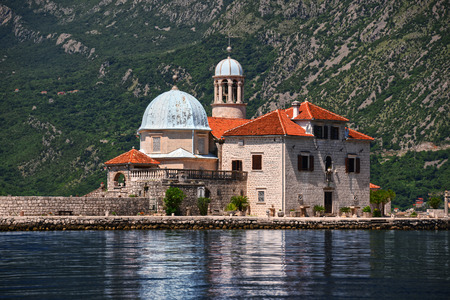 montenegro: Our Lady of the Rocks, one of the two islets off the coast of Perast in Bay of Kotor, Montenegro.