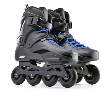 rollerblades: Pair of inline skates isolated on white background