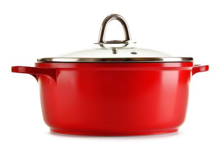 steel pan: olla de acero aisladas sobre fondo blanco.