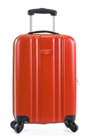 suitcase packing: Travel suitcase isolated on white background.