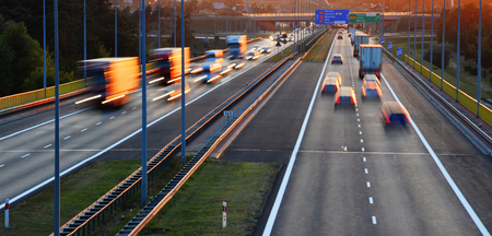 autobahn: Controlled-access highway in Poznan, Poland