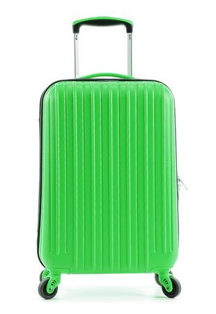 valise voyage: valise Voyage isolé sur fond blanc.