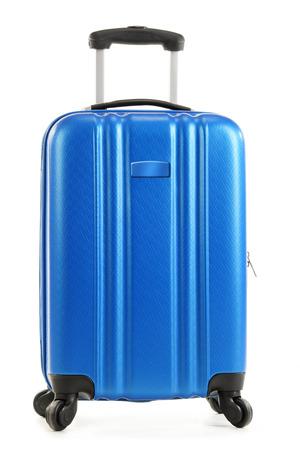 white isolated: Travel suitcase isolated on white background.