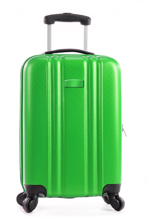 Travel suitcase isolated on white background.