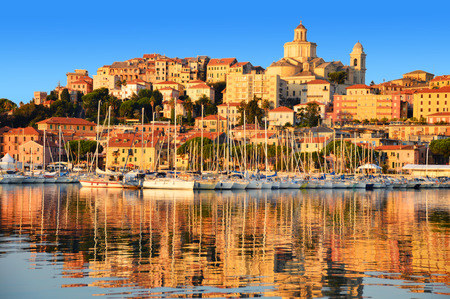 liguria: City of Imperia, Liguria, Italy during sunrise