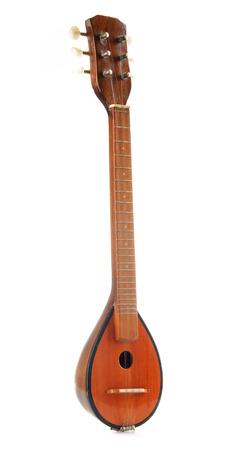 instruments de musique: Grec bouzouki instrument de musique isolé sur fond blanc Banque d'images