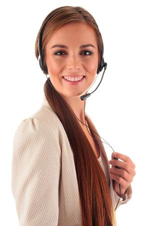 secretary phone: Call center operator. Customer support. Helpdesk.