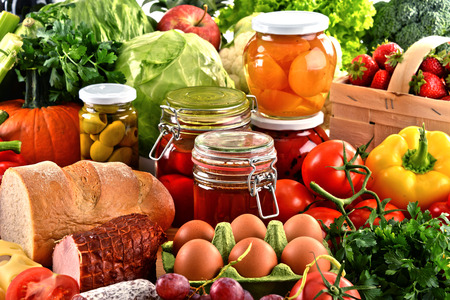 diet food: Composition with variety of organic food. Balanced diet.