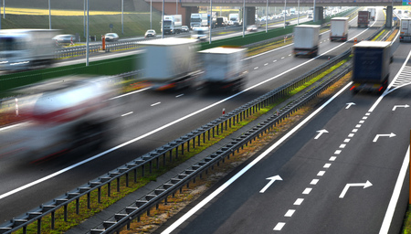 motorcar: Four lane controlled-access highway in Poland.