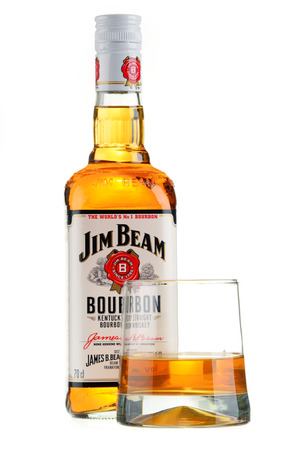 bourbon: Bottle of Jim Beam bourbon