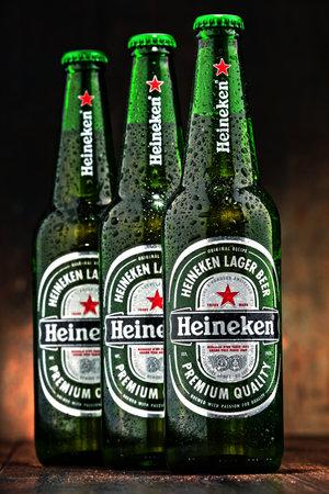 holand: Bottles of Heineken beer