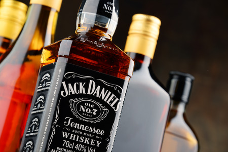 spirits: Jack Daniels, a brand of the best selling American whiskey in the world, produced by the Jack Daniel Distillery and owned by the Brown-Forman Corporation since 1956