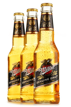 pilsner glass: Miller Genuine Draft is the original cold filtered packaged draft beer, a product of the Miller Brewing Company owned by SABMiller