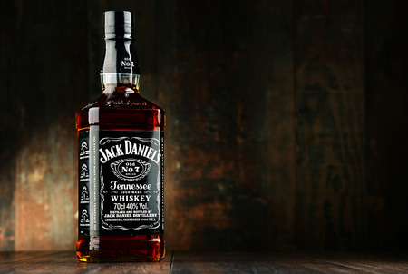 bourbon: Jack Daniels, a brand of the best selling American whiskey in the world, produced by the Jack Daniel Distillery and owned by the Brown-Forman Corporation since 1956