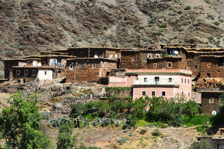 atlas: Berber rural architecture of Atlas Mountains region in Morocco.