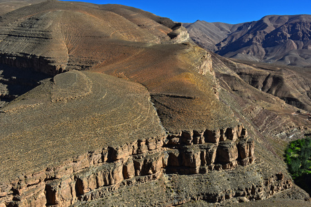 atlas: Landscape view of high Atlas Mountains, Morocco.