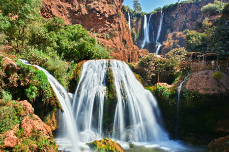 Ouzoud Falls near the Grand Atlas village of Tanaghmeilt, Morocco 免版税图像