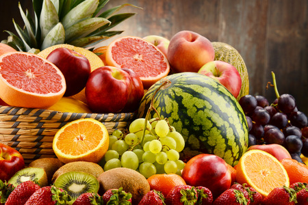 assorted: Composition with assorted fruits. Balanced diet