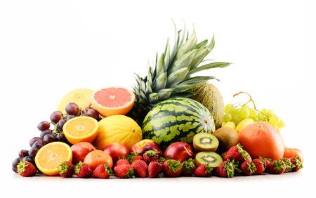 alimentacion balanceada: Composición con variedad de frutas. Dieta equilibrada