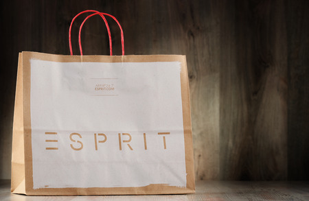 housewares: POZNAN, POLAND - NOV 3, 2016: Esprit Holdings Limited is a producer of clothing, footwear, accessories, jewellery and housewares headquartered in Kowloon, Hong Kong, and Ratingen, Germany. Editorial