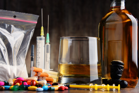 addictive: Variety of addictive substances, including alcohol, cigarettes and drugs