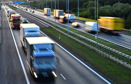 carriageway: Four lane controlled-access highway in Poland.